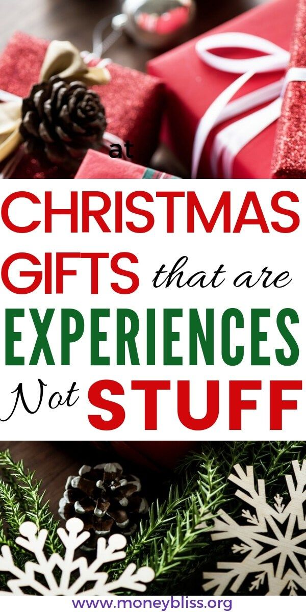 The Best Christmas Gift Experiences That You Need To Know Money Bliss Christmas Gift Alternatives Christmas Gifts For Kids Meaningful Christmas Gifts
