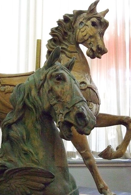 Carousel Horses - produced by the Dentzel Company of Philadelphia Pennsylvania 1867-1928