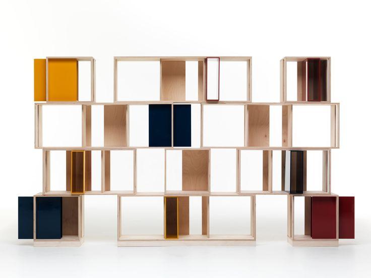 librera composable modular de madera twin box coleccin by valsecchi diseo nicola de