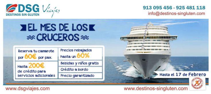El mes de los Cruceros de Destinos Sin Gluten, hasta el 17/02/2014