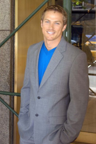 Jason Lewis during Jason Lewis Jenny McCarthy and Dave Foley Leaving 'WB11 Morning News' April 29 2004 at Daily News Building in New York City New...