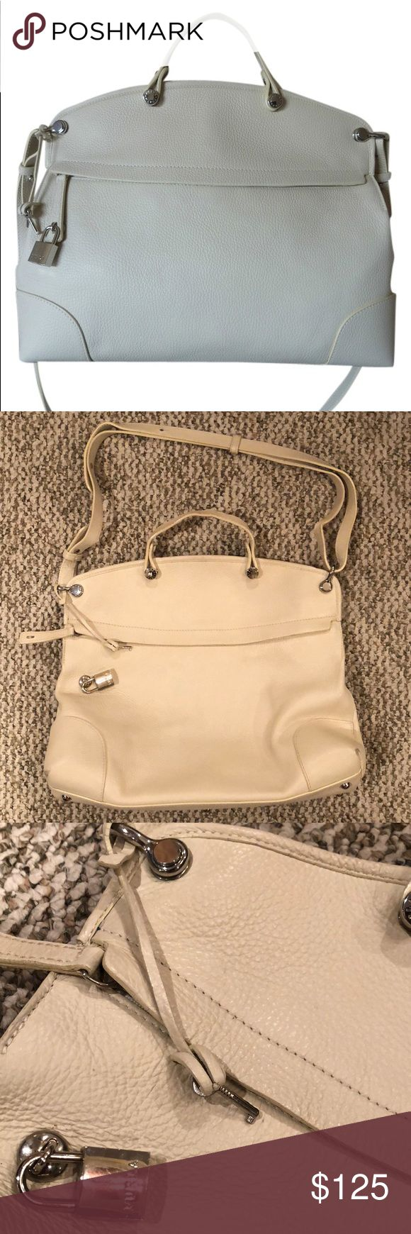 Furla Piper Dome Handbag Large Authentic! Shows a few signs of wear! Milk White. Furla Bags Satchels