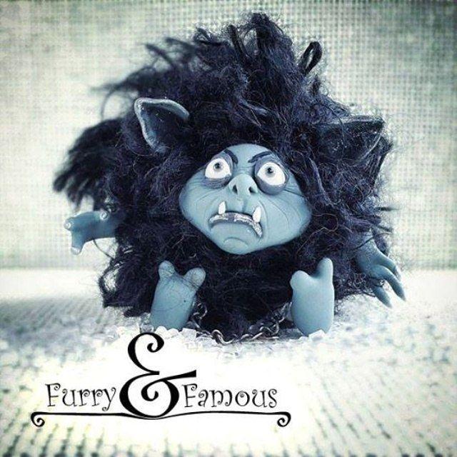 #пойманный #домовой #housespirit #prisoner #fur #furry_and_famous #blue #black #ugly #clay #doll #handmade #miniature #creature #polymerclay #arts #sculpture