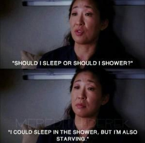 Me. Every day after work. Sounds like the life of an overnight person... by may