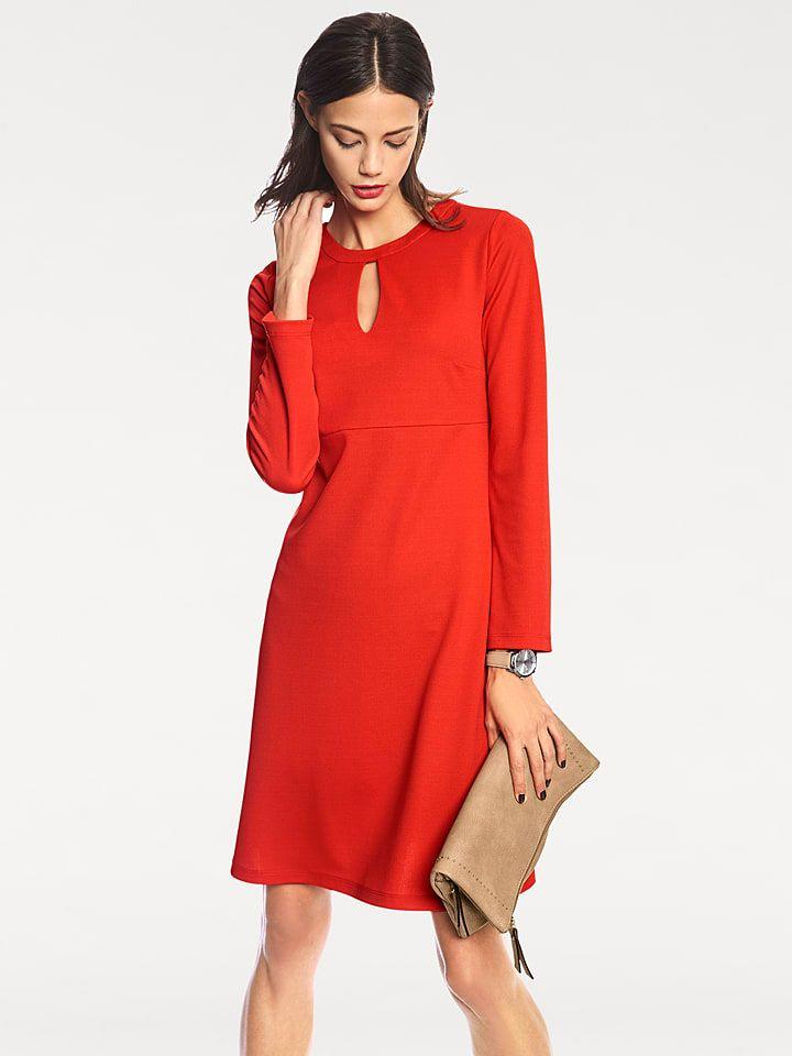 Kleid In Rot Modestil Kleider Mode