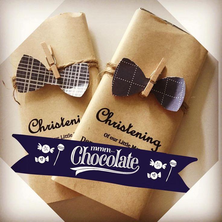 Chocolate party favours for a little man themed christening DIYS #diys #diy #diypartydecor #christening #bowtie #littleman #partyfavours #chocolate @lindt_chocolate #brisbane #queensland #australia #style #mum #kids #kidsparty