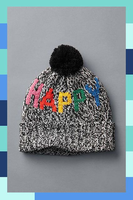 27 Cool Beanies For The Non-Hat Girl #refinery29  http://www.refinery29.com/cool-beanies#slide-12  On gray days, let your hat do the positive talking for you....