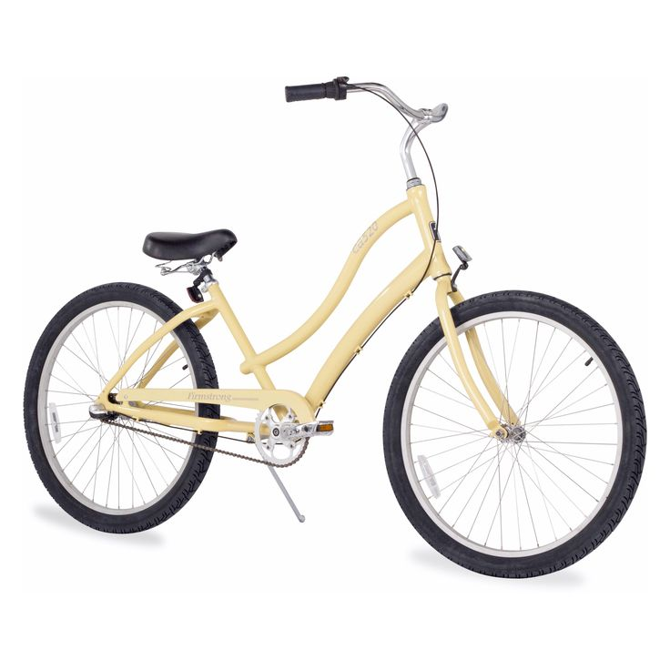 Firmstrong Womens CA-520 Alloy 26 in. 3 Speed Beach Cruiser Bicycle - Vanilla