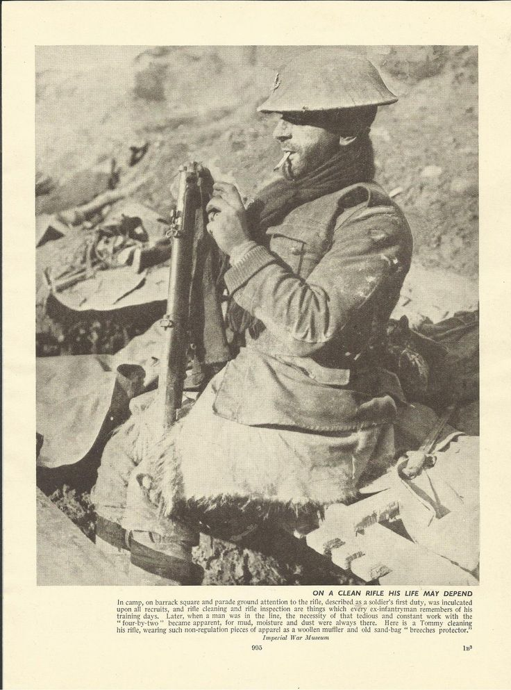 "WWI;""On A Clean Rifle His Life May Depend""."