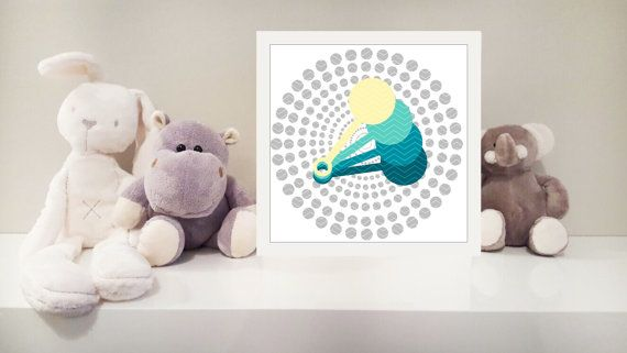 Rattle printable nursery art instant download by MonsterTots