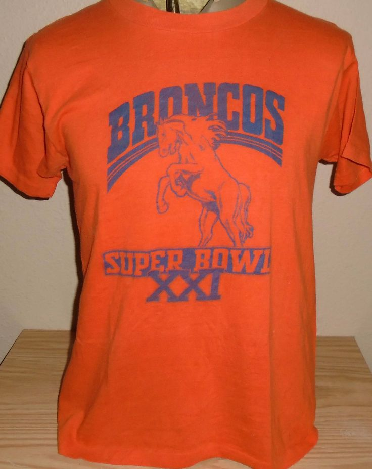 vintage 1980s Denver Broncos Super Bowl t shirt size Large by vintagerhino247 on Etsy