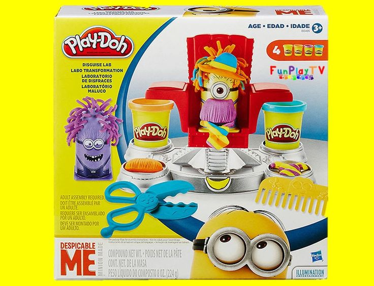 Play-Doh Despicable Me Disguise Lab Minions FunPlayTV review