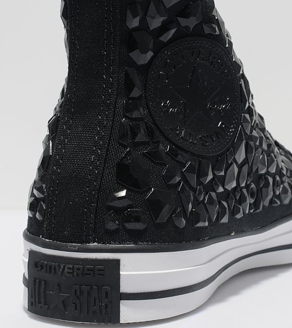 converse all star black. converse chuck taylor all star black rhinestone | sneakers: pinterest taylor, and