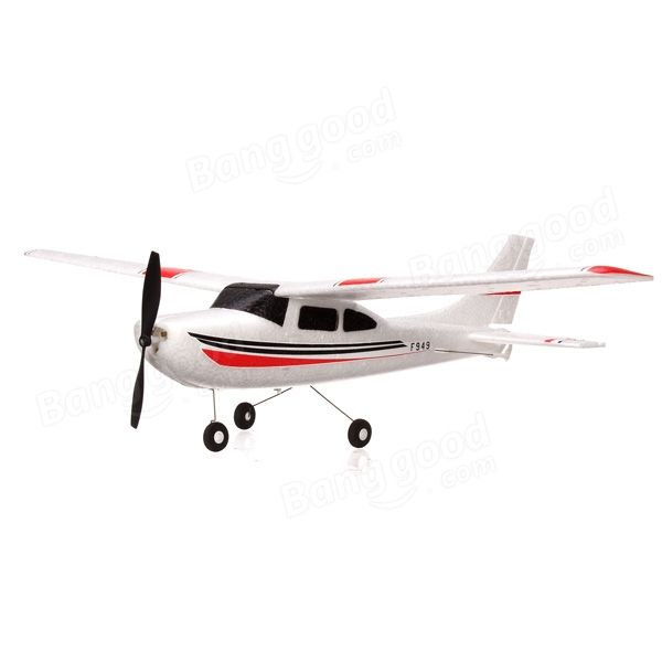 WLtoys F949 3CH 2.4G Cessna-182 Micro RC Airplane RTF - US$50.61