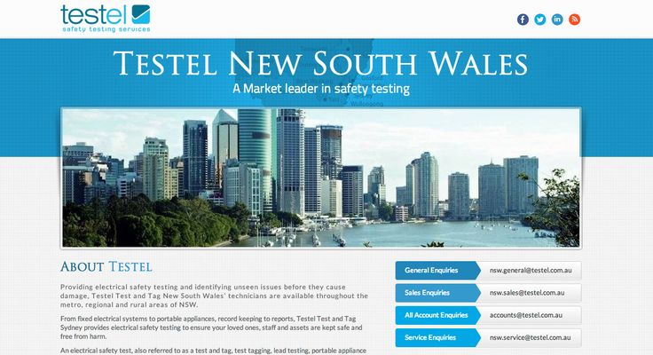 Testel New South Wales. From fixed electrical systems to portable appliances, record keeping to reports, Testel Test and Tag Sydney provides electrical safety testing to ensure your loved ones, staff and assets are kept safe and free from harm. http://www.testel.com.au/new-south-wales/index.html