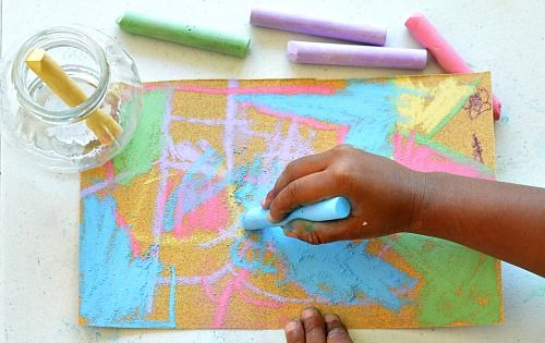SAND PAPER ART: 3 Methods |  Drawing with chalk on sand paper for kids #kidsart