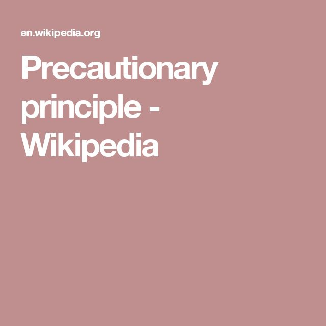 Precautionary principle - Wikipedia
