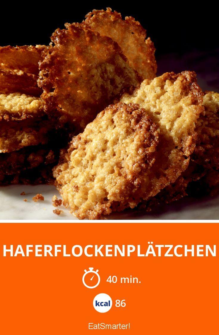Haferflockenplätzchen - smarter - Kalorien: 86 kcal - Zeit: 40 Min. | eatsmarter.de