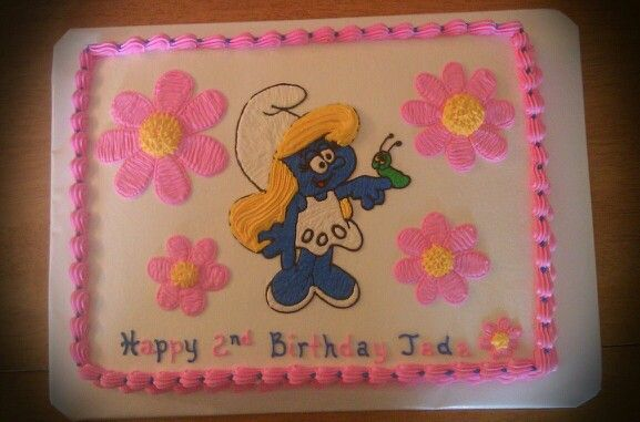 25 best Smurfette Cake Decorating images on Pinterest
