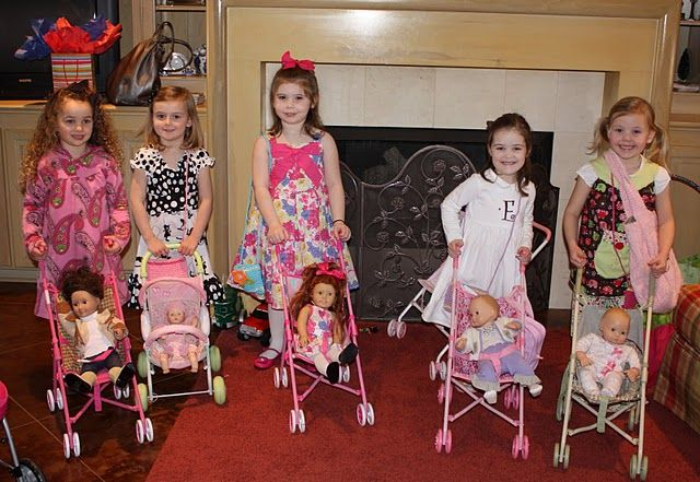 Stroller race- for a baby doll birthday party for Bekah?