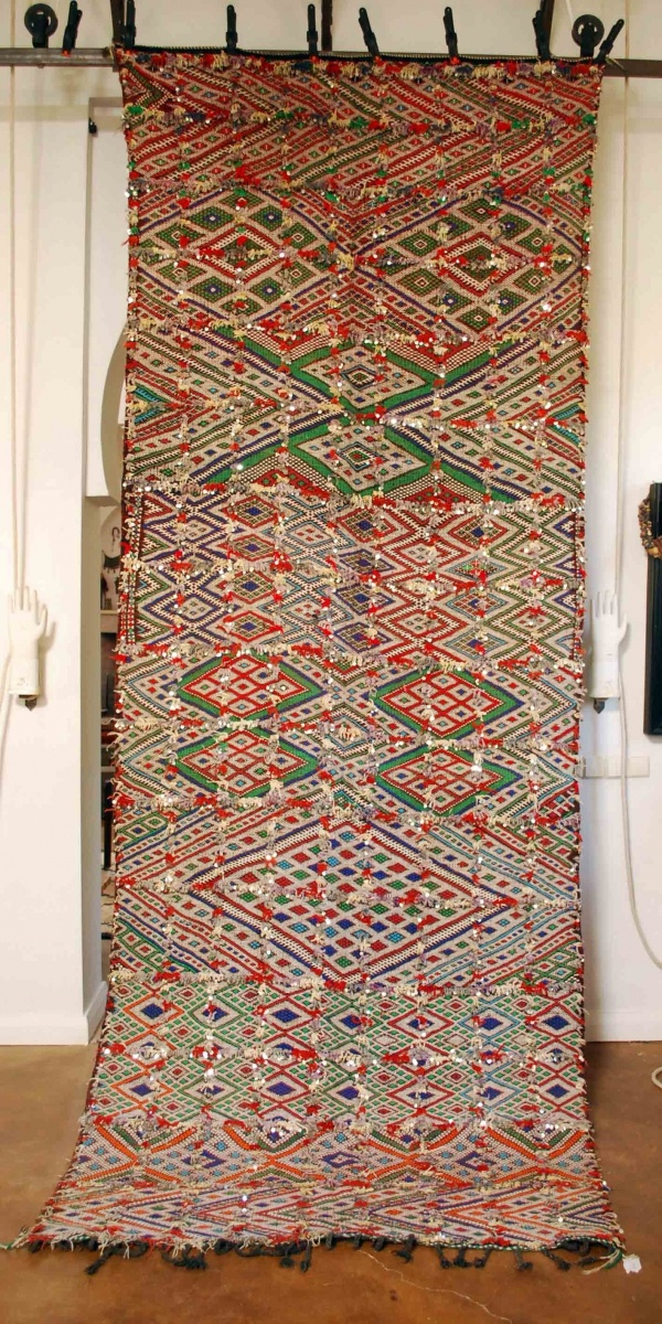 Gorgeous Moroccan Sequined Kilim From Red Thread Souk