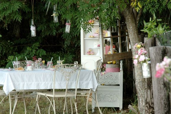 There's lots of cute ideas on this page, even if it's technically a little girl's birthday party :)  If I couldn't get a barn, a garden party is a good second best.