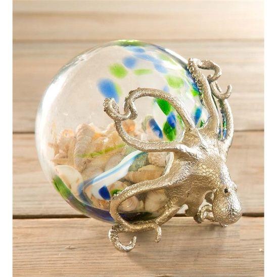 Octopus Glass Globe