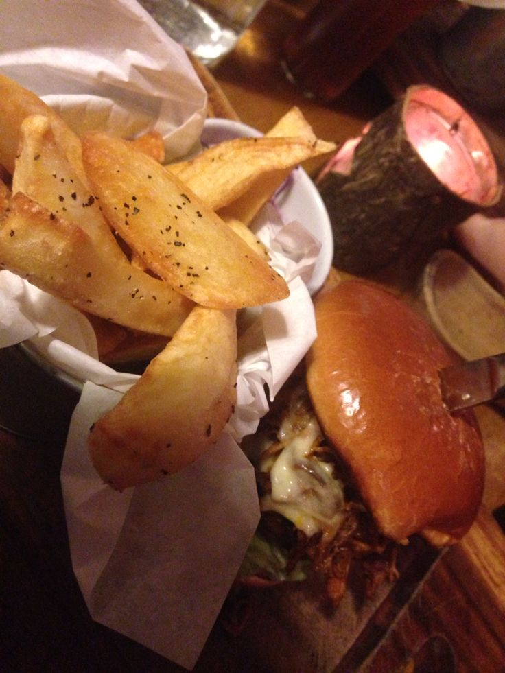 The Roadhouse Burger (Pulled Pork edition) from The Smoke House (not to be confused with Smokehaus) in Cardiff