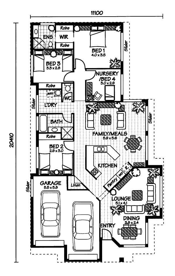 Best 25 australian house plans ideas on pinterest one for Open plan house designs australia
