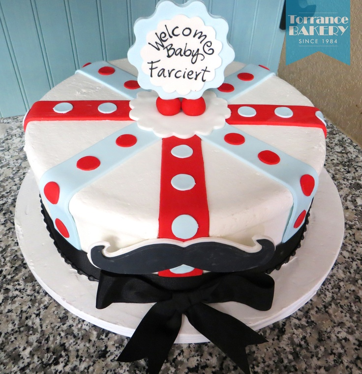 Consider this mustache cake for your dapper little man ;)