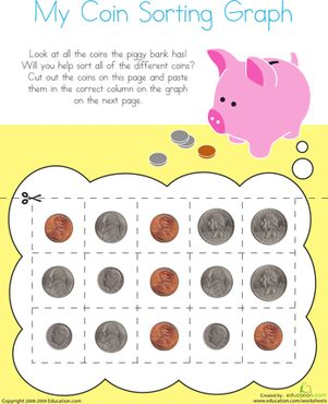 1000 ideas about sorting kindergarten on pinterest Coin sorting bank for kids