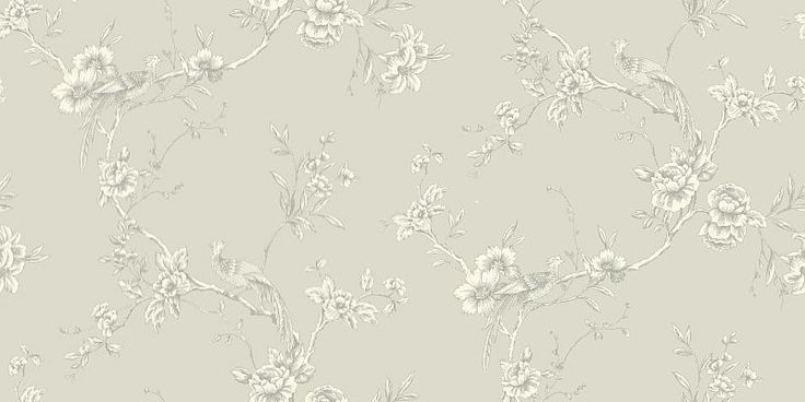 Chinoise Taupe (422803) - Arthouse Wallpapers - A classic, traditional bird of paradise in floral boughs design - available in a range of colours and also in a shadow print. Shown in the grey on soft taupe  colourway. Please request sample for true colour match.