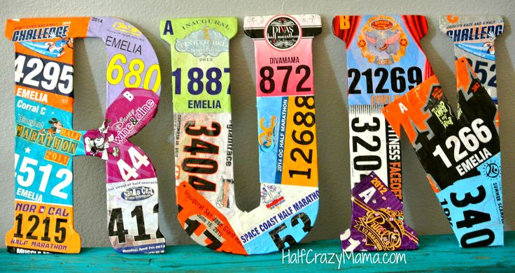 race bib craft project | Half Crazy Mama
