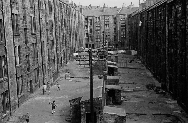 View of tenement backs - Glasgow, 1970