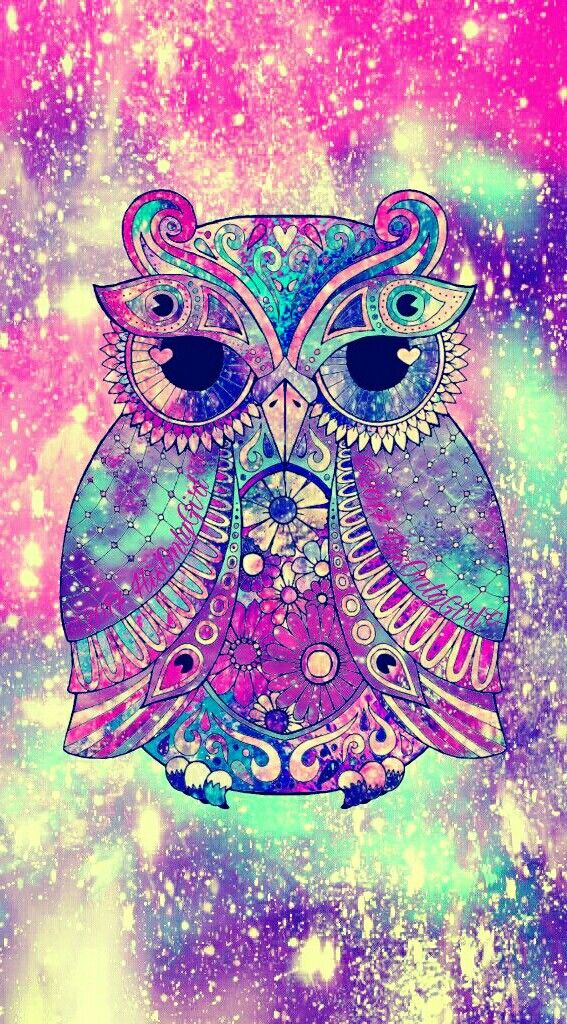 DesertRose,;,Tribal owl galaxy iPhone/Android wallpaper created for the app CocoPPa!,;,