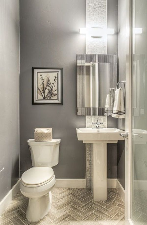 Small Bathroom Ideas On A Budget Modern Powder Rooms Small Half Bathrooms Bathroom Design Small Modern