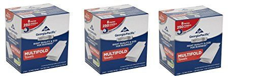 "Georgia-Pacific 2212014 Multifold Paper Towels (WxL) 9.2"" x 9.4"" (Case of 8 Packs, 250 Towels per Pack) (.3 PACK)"