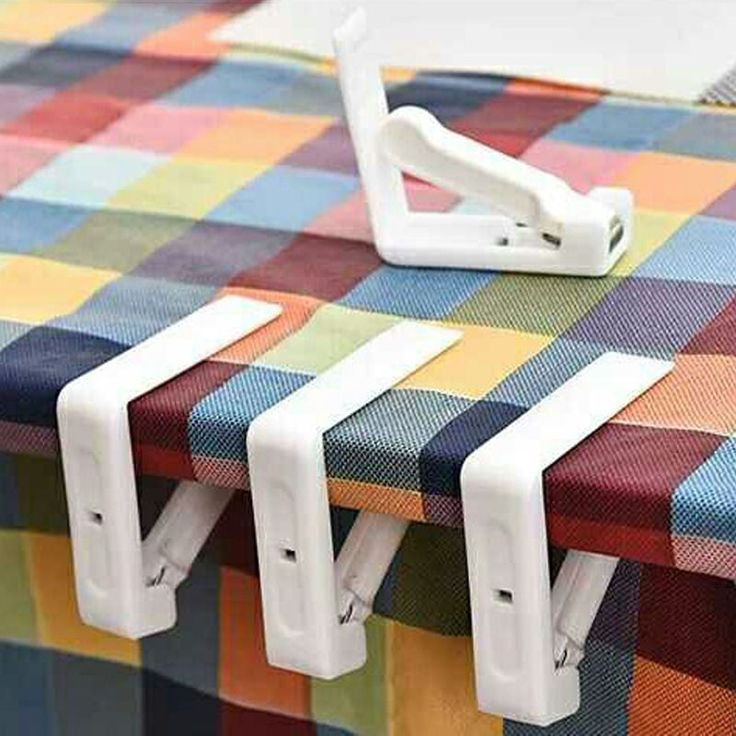 4Pcs/Set Tablecloth Clips Spring Loaded Clamp Party Picnic Table Cover  Holder