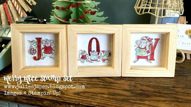 Julie Kettlewell - Stampin Up UK Independent Demonstrator - Order products 24/7: Julie's Jems Blog Hop - Christmas Decorations