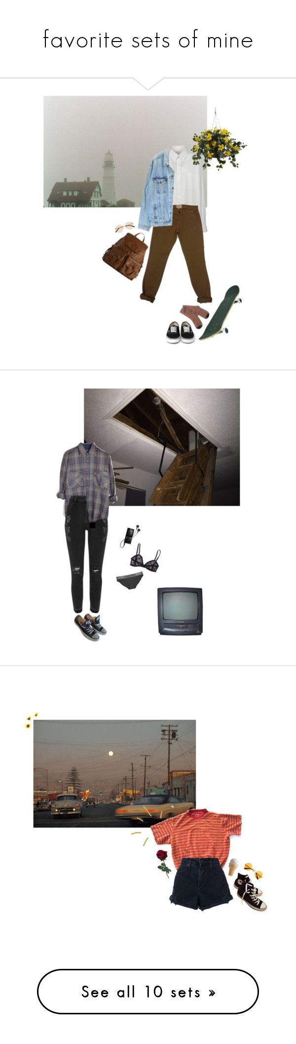 """""""favorite sets of mine"""" by the-cheap-bouquet ❤ liked on Polyvore featuring Maison Margiela, Current/Elliott, Golden Goose, Levi's, Nearly Natural, Mix No. 6, The Row, River Island, Converse and Sony"""