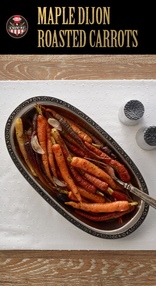 Maple Dijon Roasted Carrots   A delicious twist on this Easter classic   Easter Ideas   Easy Easter Recipes