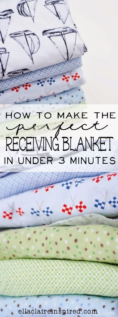 How to Make the Perfect Receiving Blanket in Under 3 Minutes
