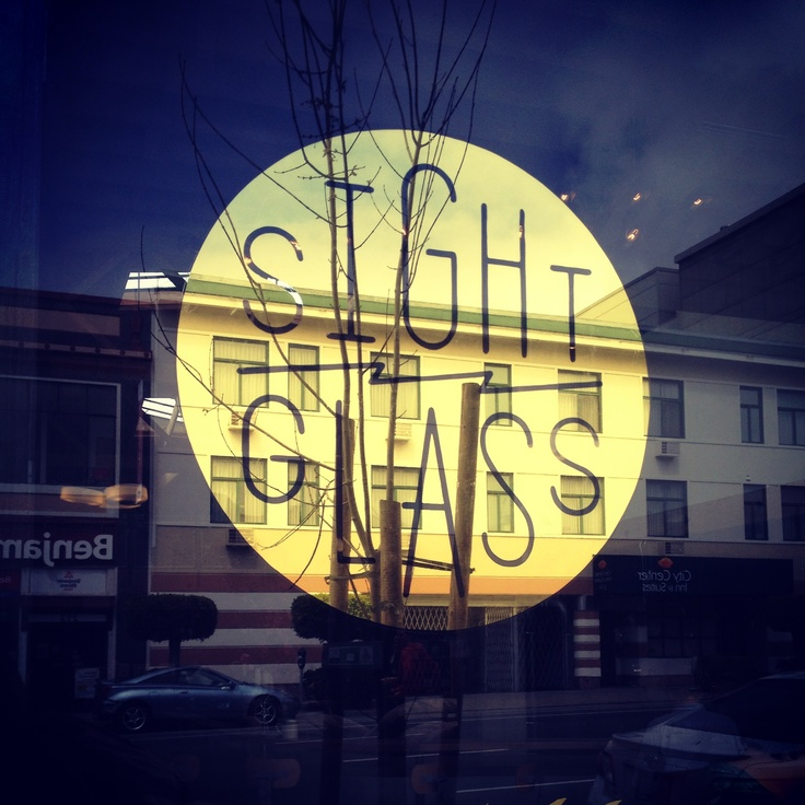 Sightglass in SF. Pretty logo, nice interior, and great coffee.