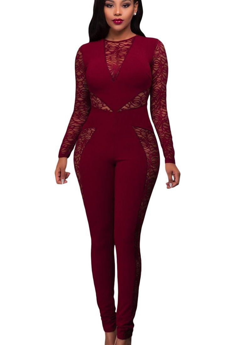 combinaison femme rouge combinaison pantalon chic rouge. Black Bedroom Furniture Sets. Home Design Ideas
