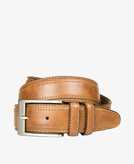 Leather belt and synthetic material with double stitching, Made in Italy. Equipped with square metal buckle, double loops and Navigare logo | Navigare