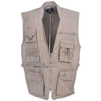 Rothco Vests: Men's 8567 Concealed Carry Plainclothes Khaki Vest