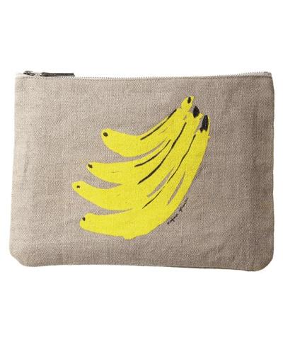 Virginia Johnson hemp pouch, banana