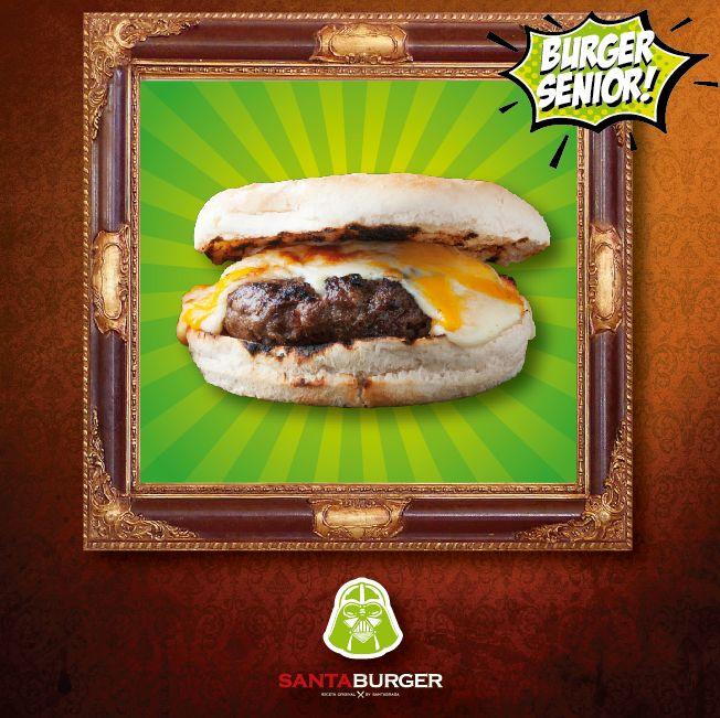 Con esta burger te unirás al lado de la fuerza!! Con la #BurgerSenior serás el héroe no el villano! #locosporlasburgers #burgerfan #burgerlover