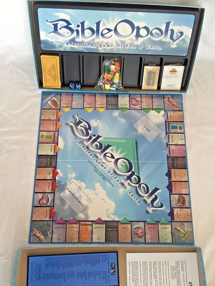 BibleOpoly Board Game Late For The Sky Christian Catholic
