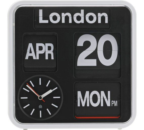 Buy Habitat Flap Small Analogue City Wall Clock at Argos.co.uk, visit Argos.co.uk to shop online for Clocks, Home furnishings, Home and garden